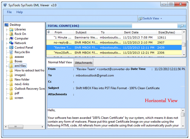 EML Viewer FREE Tool to View EML Files without Outlook