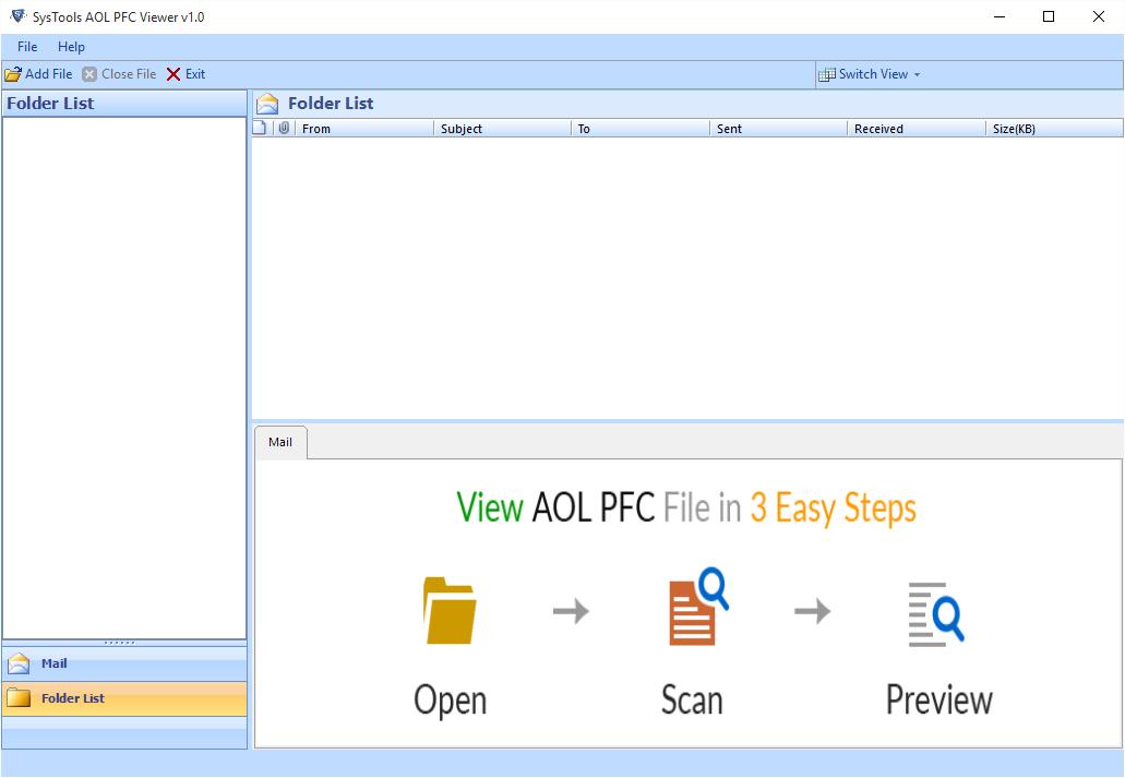 Launch AOL PFC Viewer