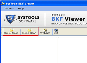 Free MSG Viewer scanning the file