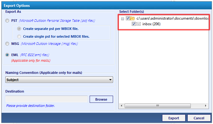 MBOX to EML Converter to Export Emails on Mac & Windows
